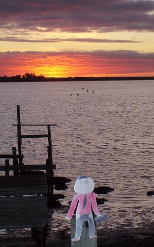 Stanley's first sunrise in Australia