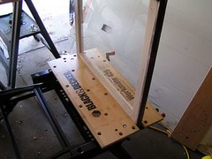 Sash in bench vice