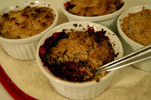 Crumble fruits rouges (Post-four)