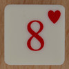 Playing Card Tile 8 of Hearts