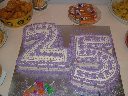 25th Birthday Cake