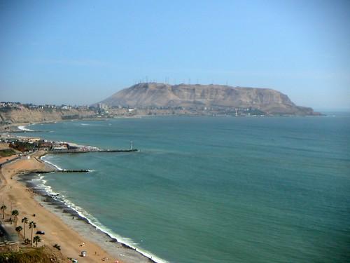 Lima coastline from Miraflores