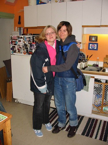 Jennifer and me in her lovely kitchen in Ottawa.