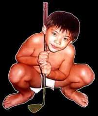 My first weapon: Golf club