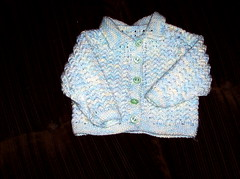 Vauvan neuletakki Baby softista (n 60 cm)