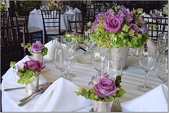 roses and mint julup cups photo by Wedding or Party Decorations