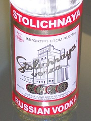 Stolichnaya Vodka Close-Up