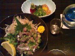 Maguro Natto and Aji Tataki Sashimi