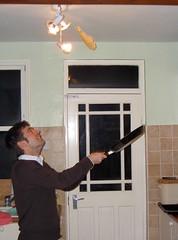 Pancake tossing