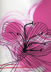 black and pink flower outline [wonderland scetches]023 photo by p r e t t y + q u i r k y