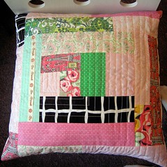 Log Cabin Pillow Front