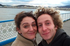 Kate and me on Llandudno pier