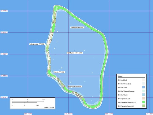 Atoll Tureia - Map