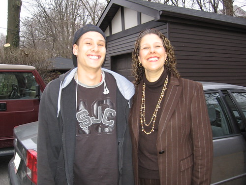 James Fukuhara, with mom Bev Moir, enroute to a job interview