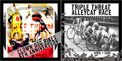 triple threat april 1 alleycat race spoke cards