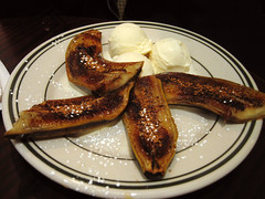 grilled bananas and ice cream