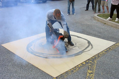 Steven Laurie - Rubber Burner Demonstration, Showcase 05. Cambridge Ontario photo by Steven Laurie
