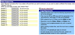 American Express Merchant Services: 10 Upload Buttons / Maximum of 5 uploads