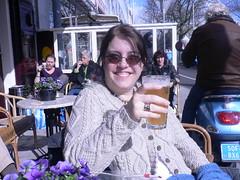 Witte bier in the sunshine at Mulder pub