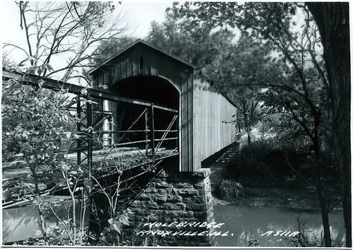Postcard: Wolf Bridge, Knoxville, IL, ca. 1950