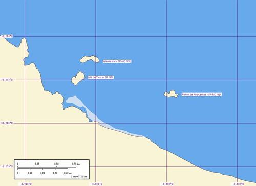 Penon de Alhucemas - Map