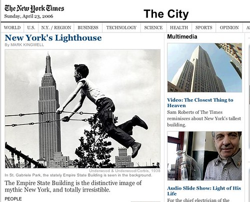 Empire State Feature in NY Times