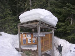 colchuck info kiosk in april