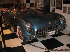 1954 Pennant Blue Corvette