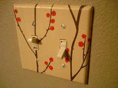 Decoupage Switchplate - double - berries