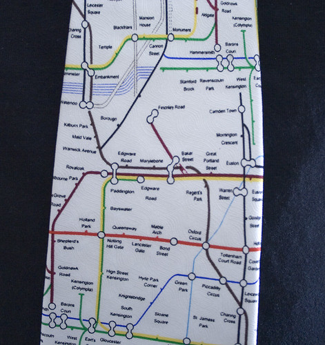 Click to enlarge London Underground Map Tie