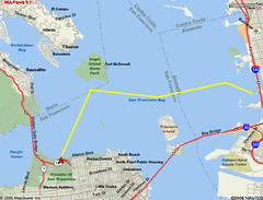 Map of Bay Crossing Route
