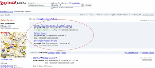 Yahoo Local Featured Listings : Flat Fee Search Marketing