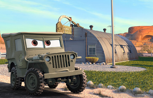 Sarge�s Army surplus store - from Pixar�s movie CARS