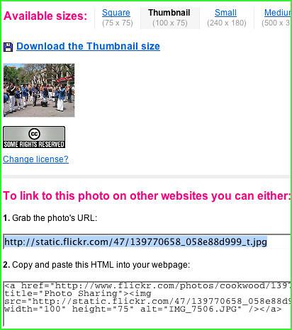 flickr html code