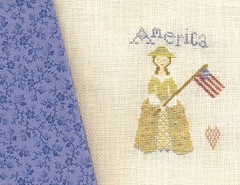 american girl with fabric