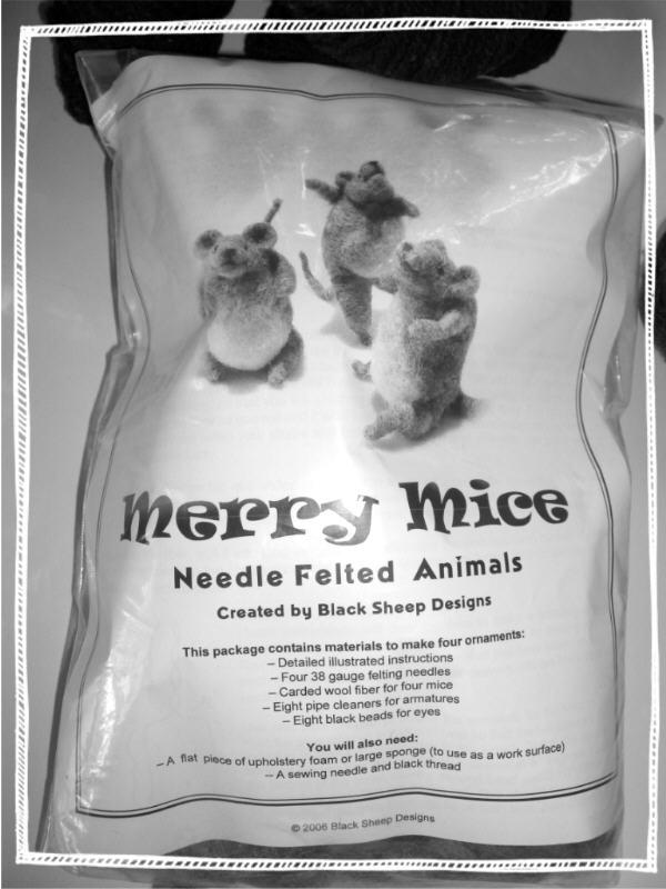 needle felted mice!