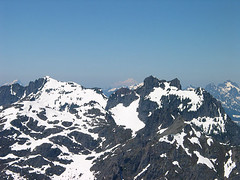 Gunn Peak From Baring Mtn (Three Fingers, Mt Baker, And Del Campo Peak In Background)