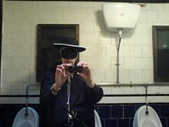 Zorro in the toilet