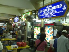 Four soup tulang stalls in a row