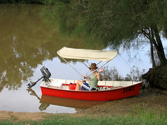 My small boat on the Brunswick River