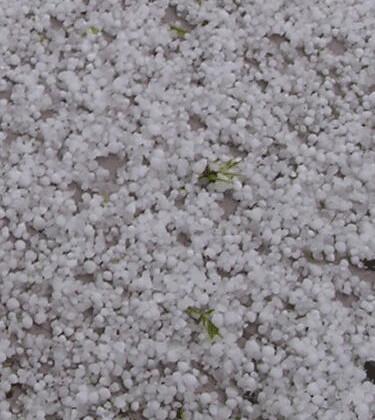 hail closeup