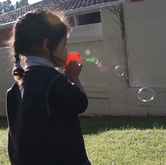 heave bubbles, not flying away