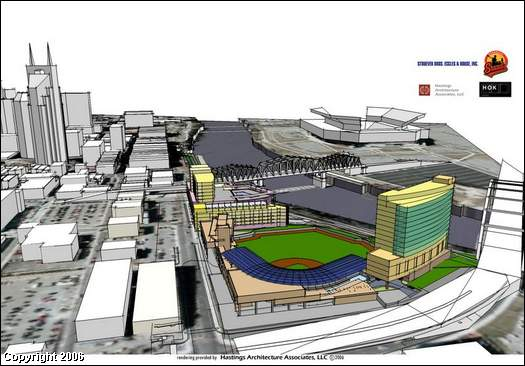 Nashville Sounds Stadium Rendering 1