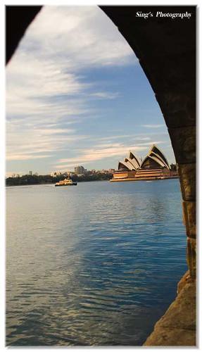 悉尼多云街头风景图片