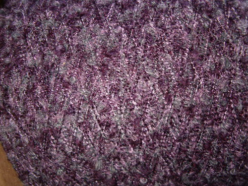 Purple boucle-y type yarn