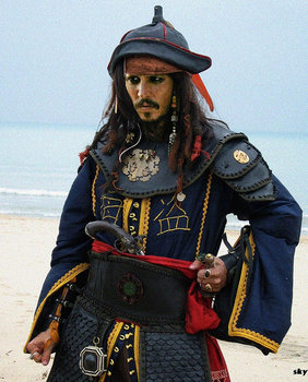 Johnny Depp en Piratas del Caribe 2