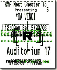 Da Vinci Code Ticket