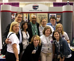 First Book staff with Roscoe Orman (Gordon on Sesame Street)
