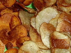 Sweet & Russet Potato Chips cu