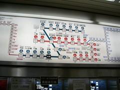 Plano del Metro de Kyoto